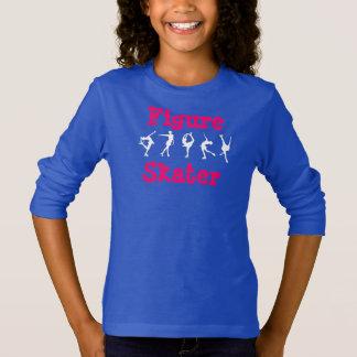 Girls Figure Skater Shirt with Skaters