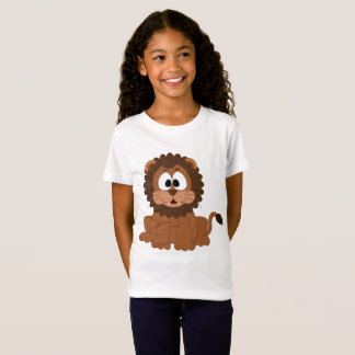 Girls' Fine Jersey Happy Lion T-Shirt