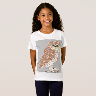 Girls' Fine Jersey T-Shirt Spotted Owl
