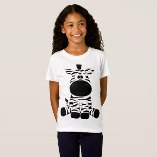 Girls Fine Jersey Zebra T-Shirt