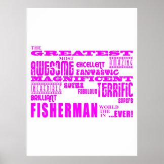 Girls Fishermen : Pink Greatest Fisherman Posters