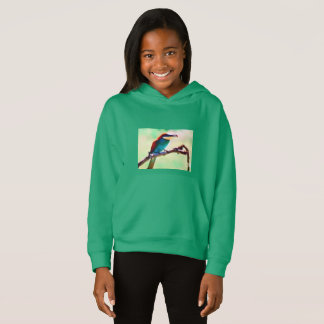 GIRLS' FLEECE PULLOVER HOODIE - INSECT EATER