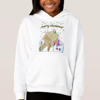 Girls' Fleece Pullover Hoodie, Merry Christmas