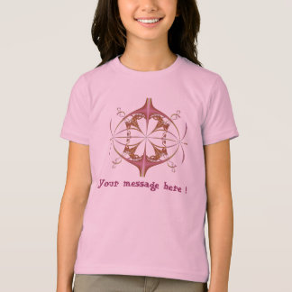 Girls floral shirt, your message on it! tshirt