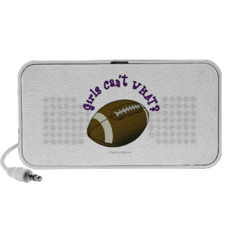 Girls Football - Purple Text Travelling Speakers