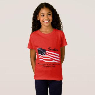 Girls' Freedom Flag Fine Jersey T-Shirt