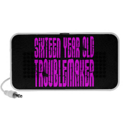 Girls Funny Birthday Sixteen Year Old Troublemaker Speaker System