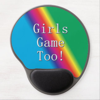 Girls Game Too Rainbow Gel Mousepad