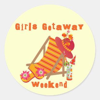 Girls Getaway Weekend T-shirts and Gifts Round Sticker