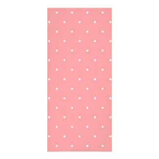Girls Gift Coral Pink and White Dots Custom Rack Cards