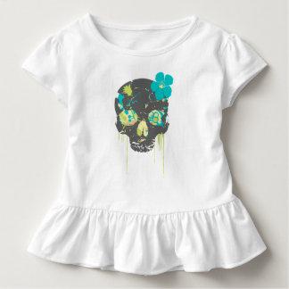 Girls girlie skull toddler T-Shirt