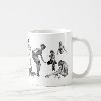 girls girls  girls basic white mug
