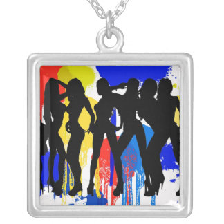 Girls, Girls, Girls Silver Plated Necklace