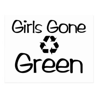 Girls Gone Green (map) Postcard
