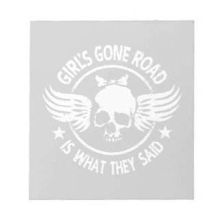Girl's Gone Road Notepad