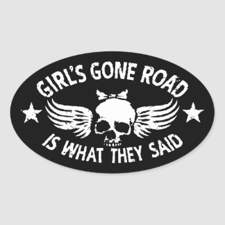 Girl's Gone Road Oval Sticker