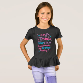 Girl's Gymnastics Birthday Party T-Shirt