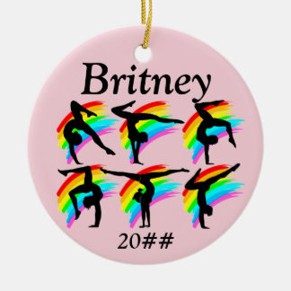 GIRLS GYMNASTICS PERSONALIZED ORNAMENT