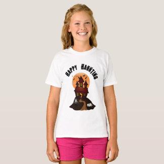 Girl's Happy Haunting Halloween Tshirt