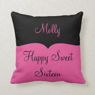 Girls Happy Sweet Sixteen Throw Pillow