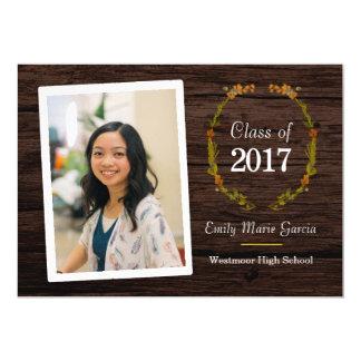 Girls High School Graduation Wood invitation