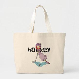 Girls Hockey Jumbo Tote Bag