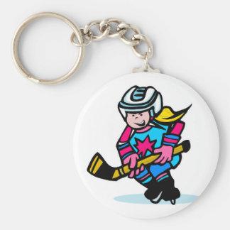 Girls Hockey Key Chains