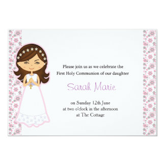 Girl's Holy Communion Invitation