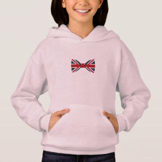 Girl's hoodie - Union Jack Bow Tie