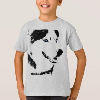 Girl's Husky Shirt Sled Dog Kid's Husky T-shirts