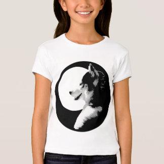 Girl's Husky T-Shirt Sled Dog Kid's Husky Shirt