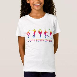 GIRLS - I love figure skating, bright colors T-Shirt