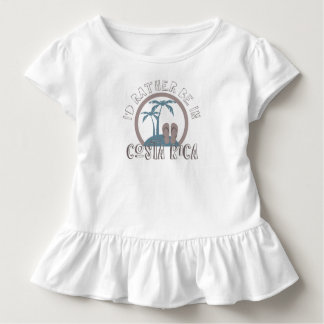 Girl's I'd Rather Be in Costa Rica Beach Souvenir Toddler T-Shirt