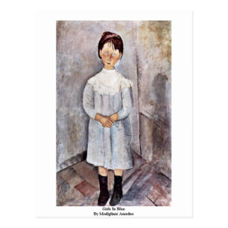 Girls In Blue By Modigliani Amedeo Postcard