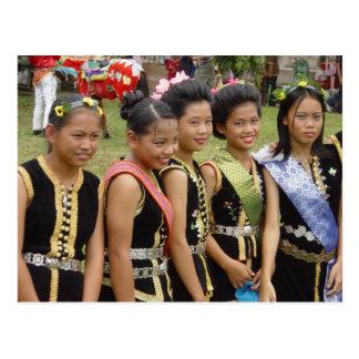 Girls in Costume Postcard