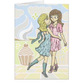 Girls in Pastel Greeting Card