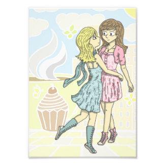 Girls in Pastel Photo Print