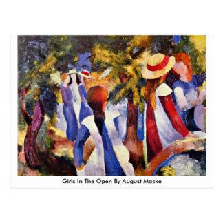 Girls In The Open By August Macke Postcard