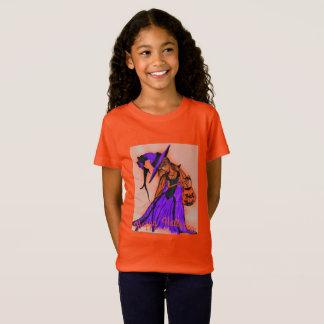 Girls Jersey Orange T-Shirt