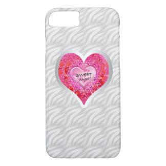 "Girl's Jeweled ""Sweet Angel? Heart""iPhone 7 case"