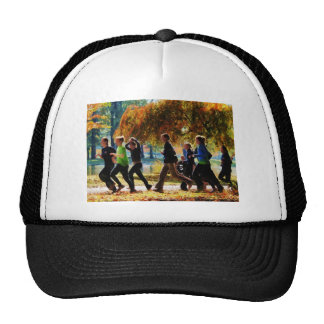 Girls Jogging On an Autumn Day Mesh Hats