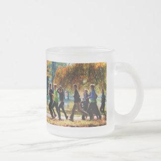 Girls Jogging On an Autumn Day Mugs