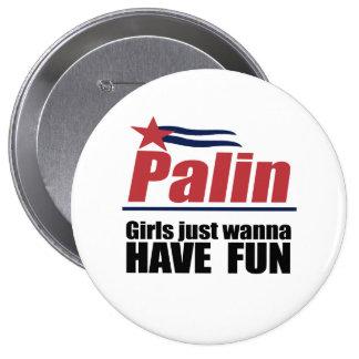 Girls just wanna have fun pinback buttons