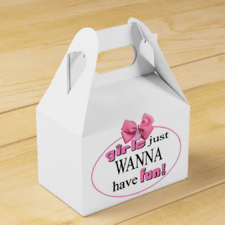 Girls Just Wanna Have Fun Wedding Favour Boxes