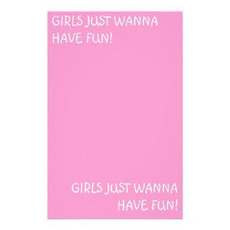 GIRLS JUST WANNA HAVE FUN!, GIRLS JUST WANNA HA... CUSTOMIZED STATIONERY