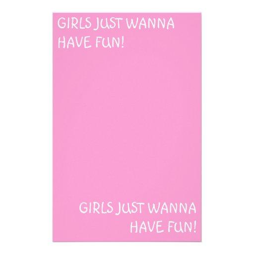 GIRLS JUST WANNA HAVE FUN!, GIRLS JUST WANNA HA... STATIONERY