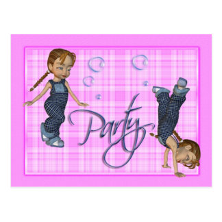 Girls Just Wanna Have Fun, Party Invite Postcard