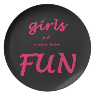 girls just wanna have fun party plates