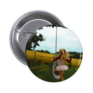 Girls Just Wanna Have Fun Pinback Button