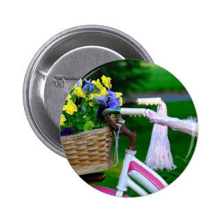 Girls Just Wanna Have Fun Pink Girls Bicycle Pins